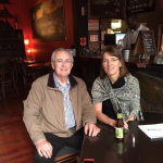 Denise Crain in Adelaide with DAI member, Ian Gladstone