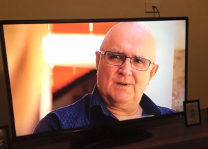 Mick Carmody on ABC television, 2015