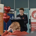 "Edie Mayhew presents at the ""Bigger Hearts"" campaign launch"